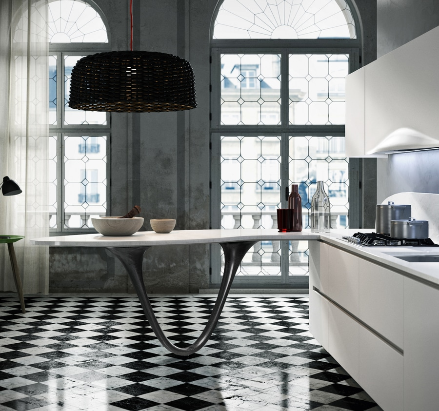 Snaidero Introduces Carbon Fibre In The Kitchen