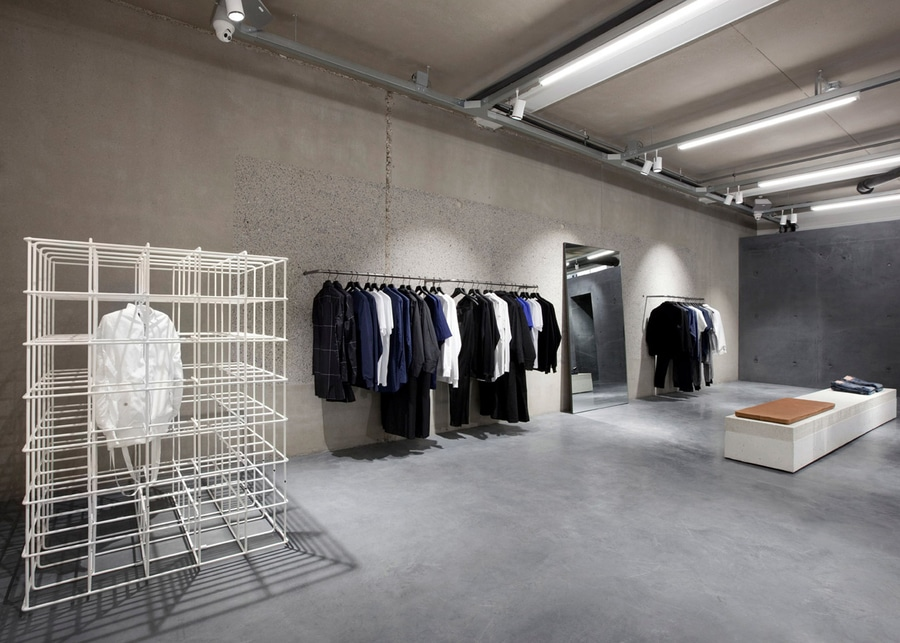 Studio Jos van Dijk creates minimal concrete interior for ETQ Amsterdam  store 2d2b10be5