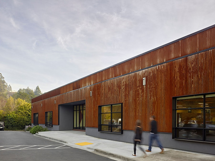 studio vara converts a boring old box building into a refreshing green office space in san box san francisco office