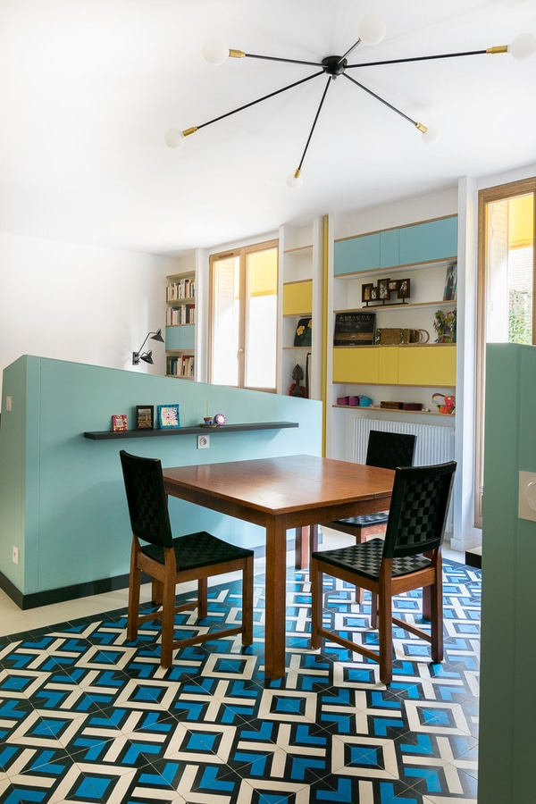 This Small Apartment Uses Half Walls To Create Separate Spaces For The Kitchen Dining