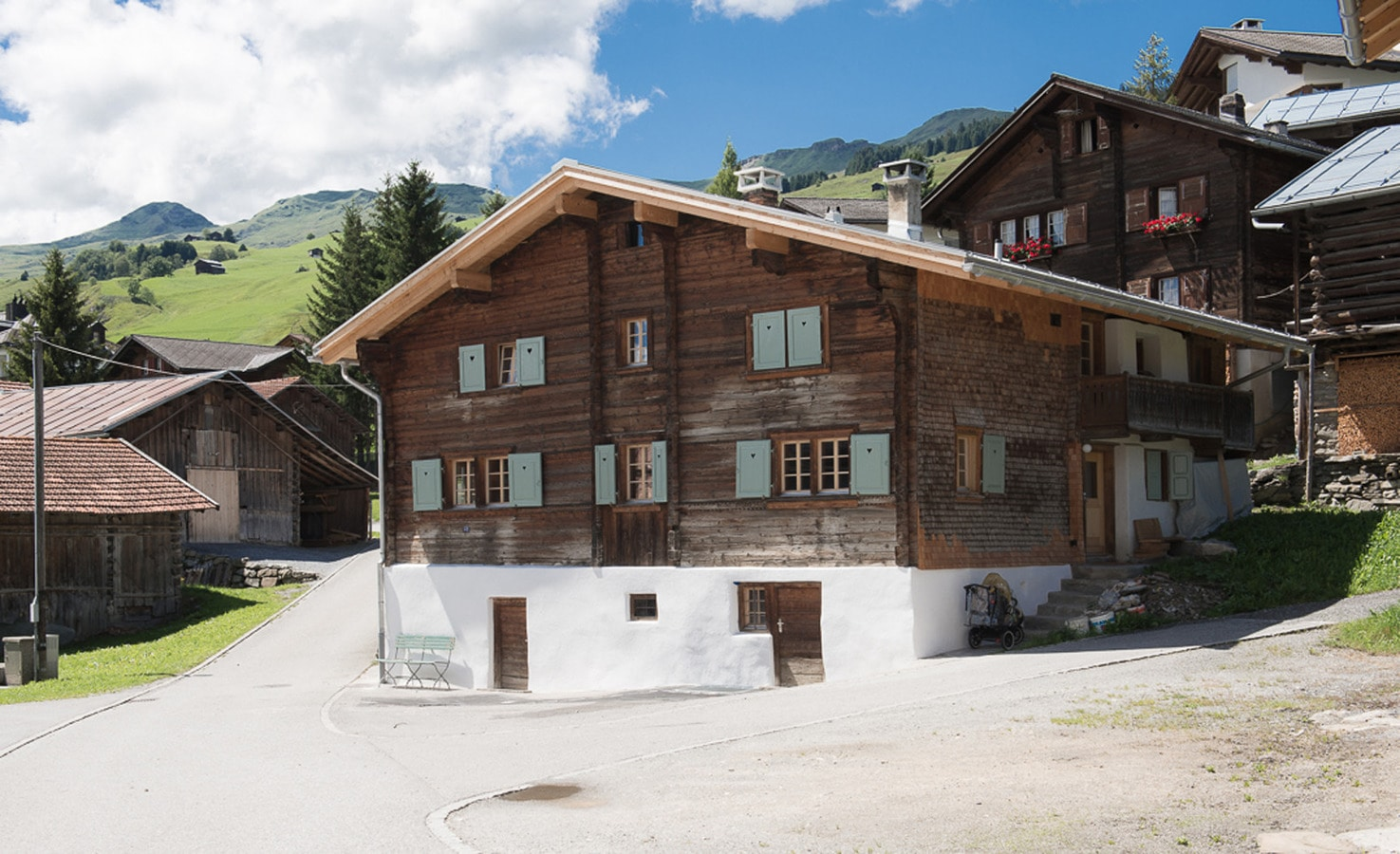 traditional swiss ski chalet renovated into two modern flex space a traditional ski chalet in the swiss alps has been transformed into two timber clad