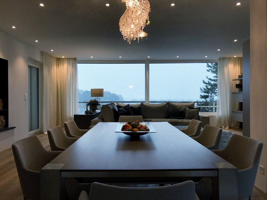 Vague crystal chandelier in a private apartment switzerland manooi vague crystal chandelier in a private apartment mozeypictures Gallery