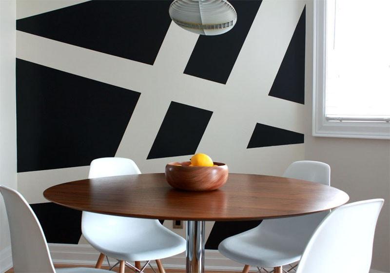 Wall Decor Idea Create A Modern Mural Using Painters Tape Portugal