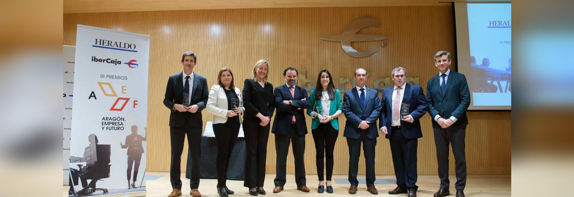 Airfal receives the Aragón Enterprise and Future Award regarding Social Responsibility