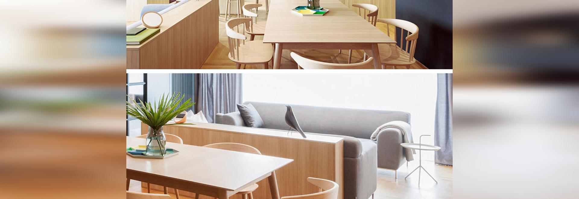 Apartment Interior Design Idea – Build A Small Wall As A Room Divider