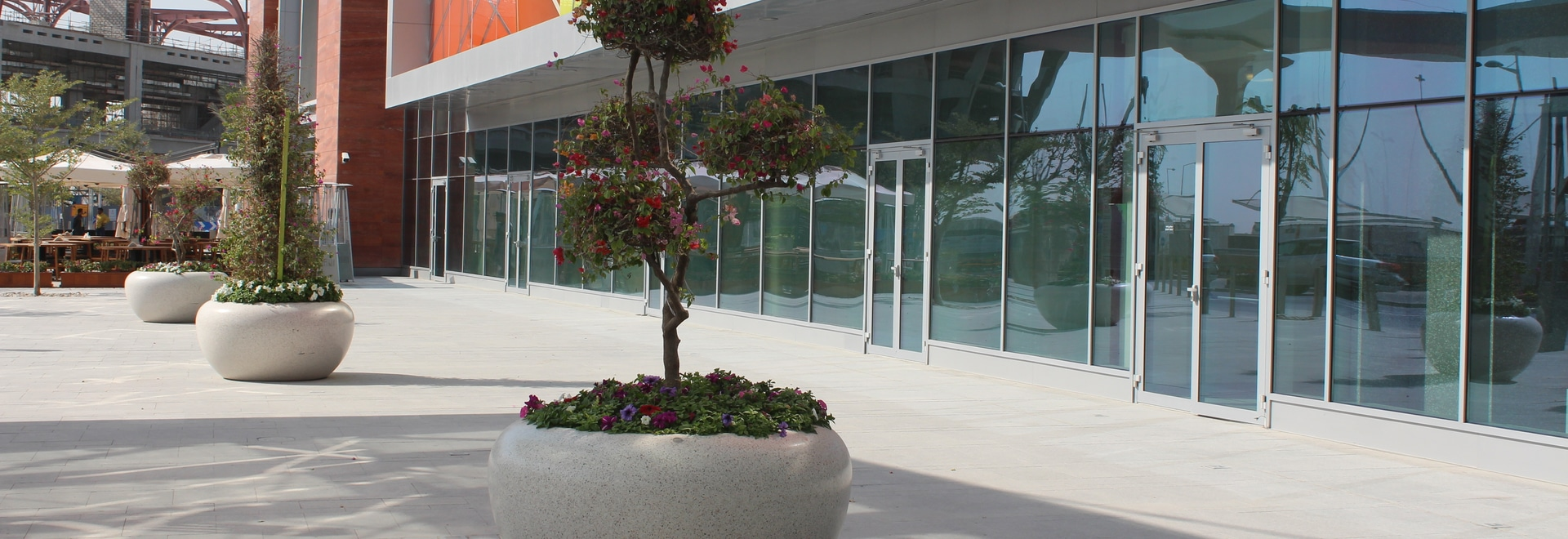 Bellitalia precious stones planters for the Mall of Qatar