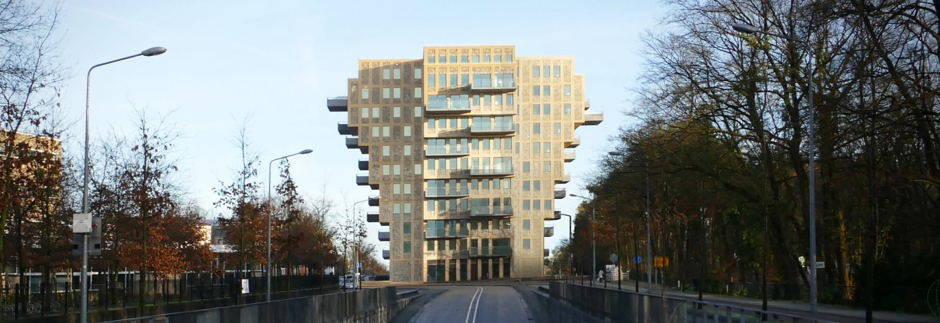 Belvedere Tower is a top-heavy cross-shaped Dutch apartment block