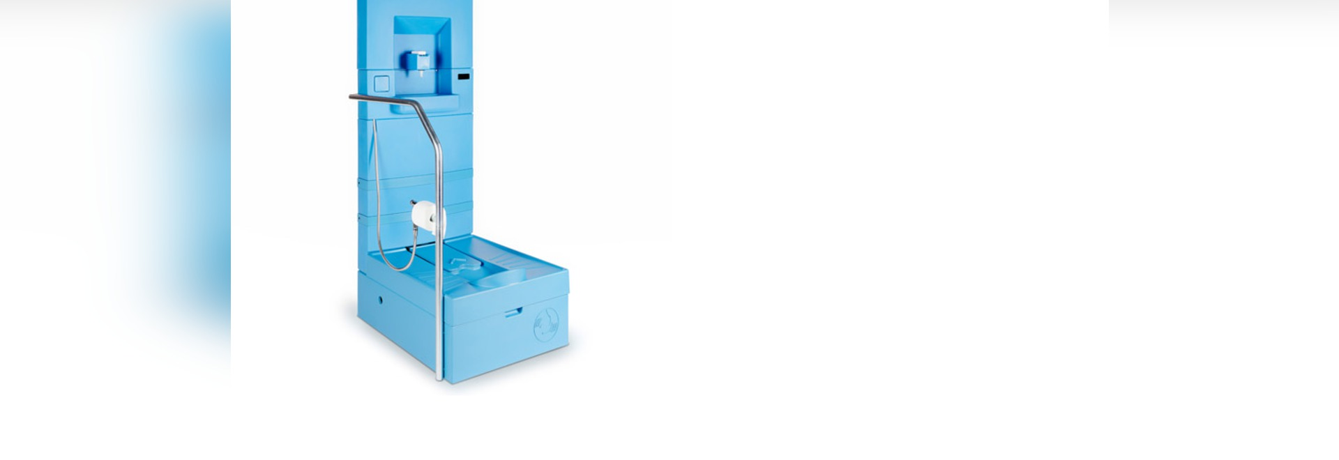 Blue Diversion Toilet aims to improve sanitation with built-in filtration system