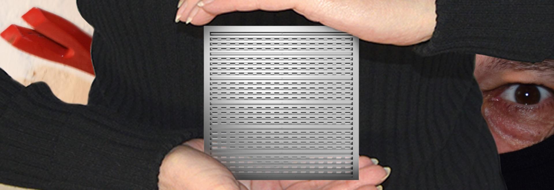 Burglar-Resistant Ventilation Grille Type 512RC2