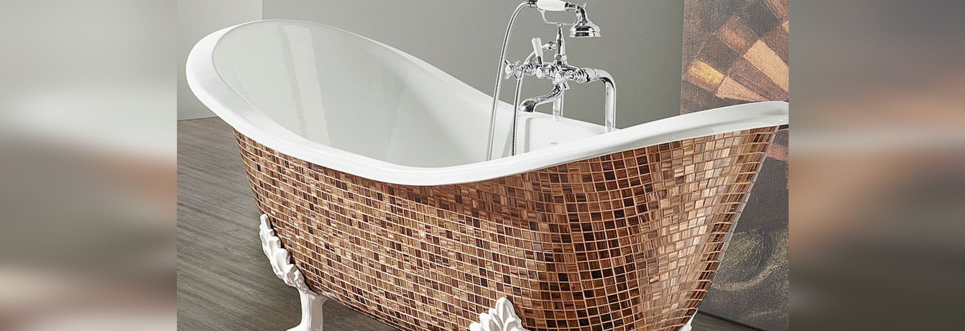 Cast iron bathtub in Mosaic: give a touch of charm to your bathroom!