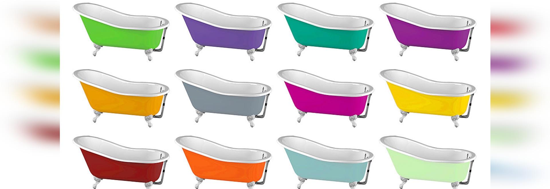 Cast-iron bathtubs: dare color, dare retro chic!