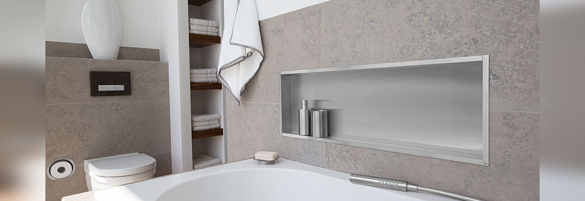 Niches in bathroom walls - Container Box Elegant Wall Niches