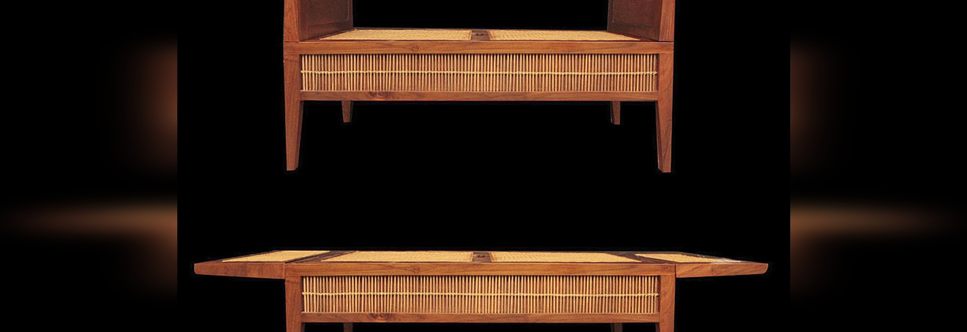 Convertible reclaimed teak bench
