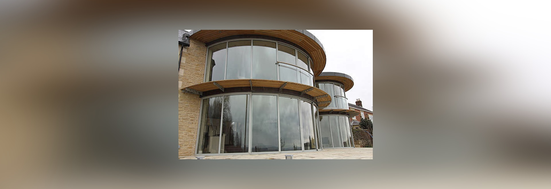 Curved Glass Patio Doors Balcony