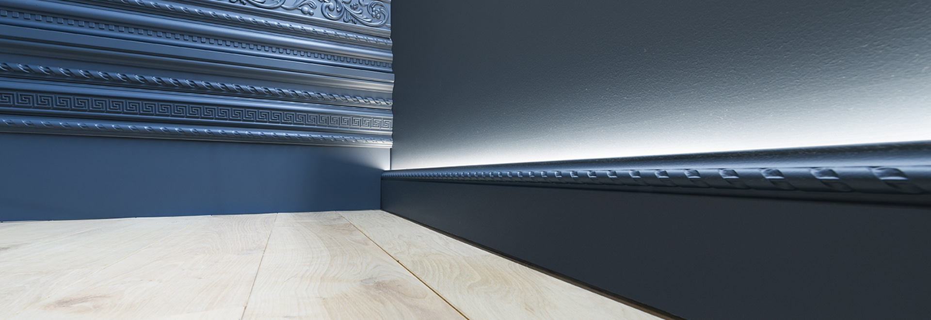 Decorative mouldings for indirect lighting