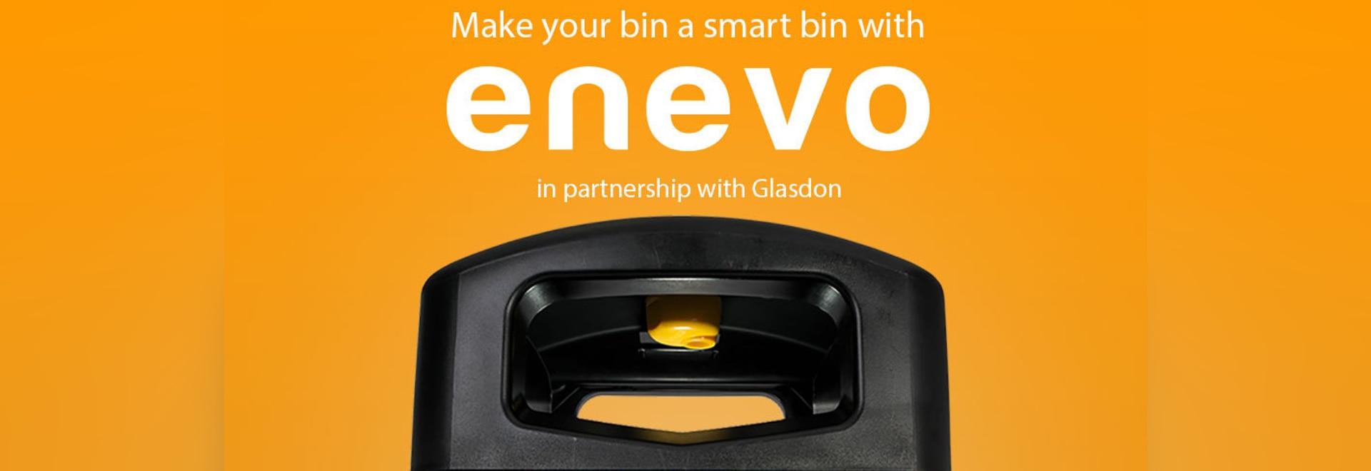 Enevo sensor inside a Glasdon Jubilee Litter Bin