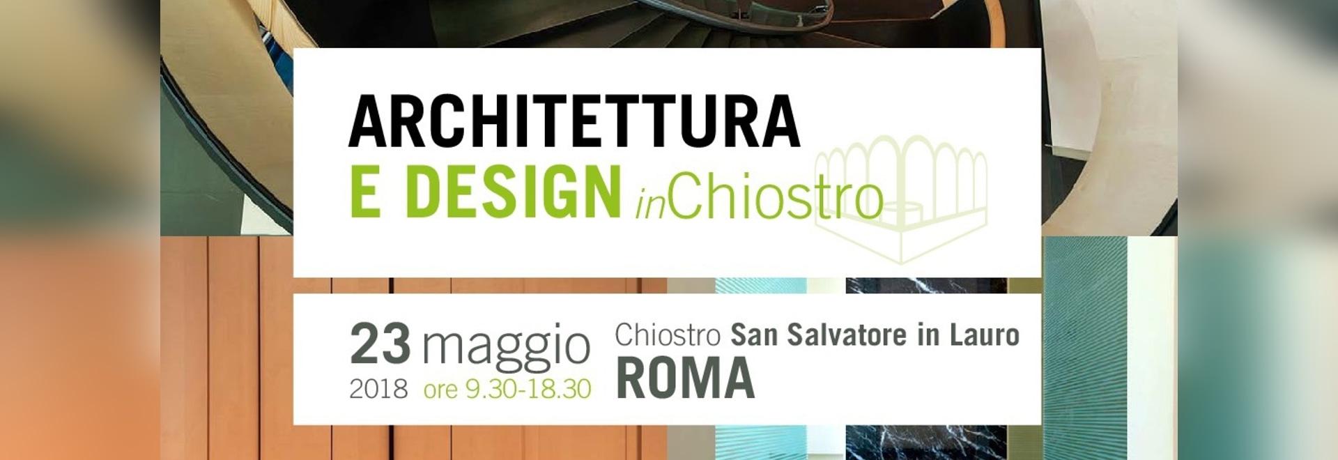 Event: Architettura e design in chiostro 2018