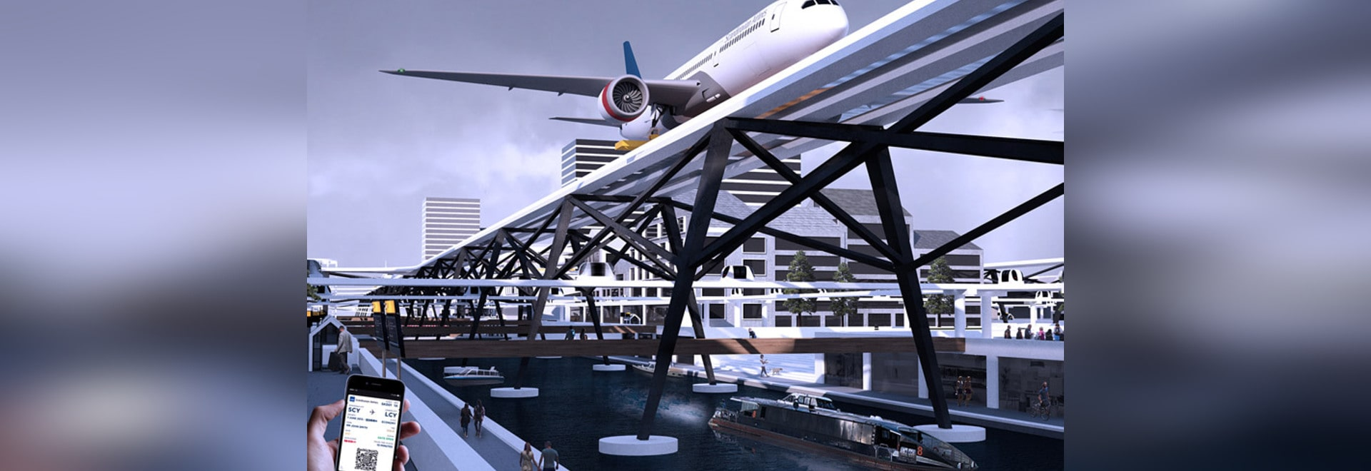 Ever wish airports could be closer to the city center? Alex Sutton's futuristic vision of air travel could shorten your airport commute significantly by elevating plane runways above city streets. ...