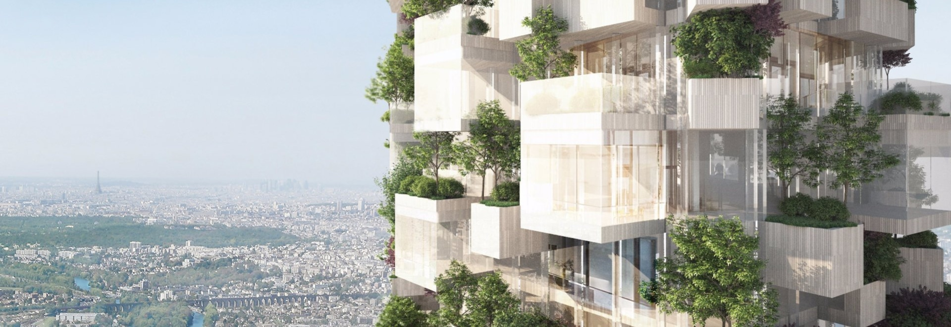 Forêt Blanche, a Vertical Forest on the Edge of Paris