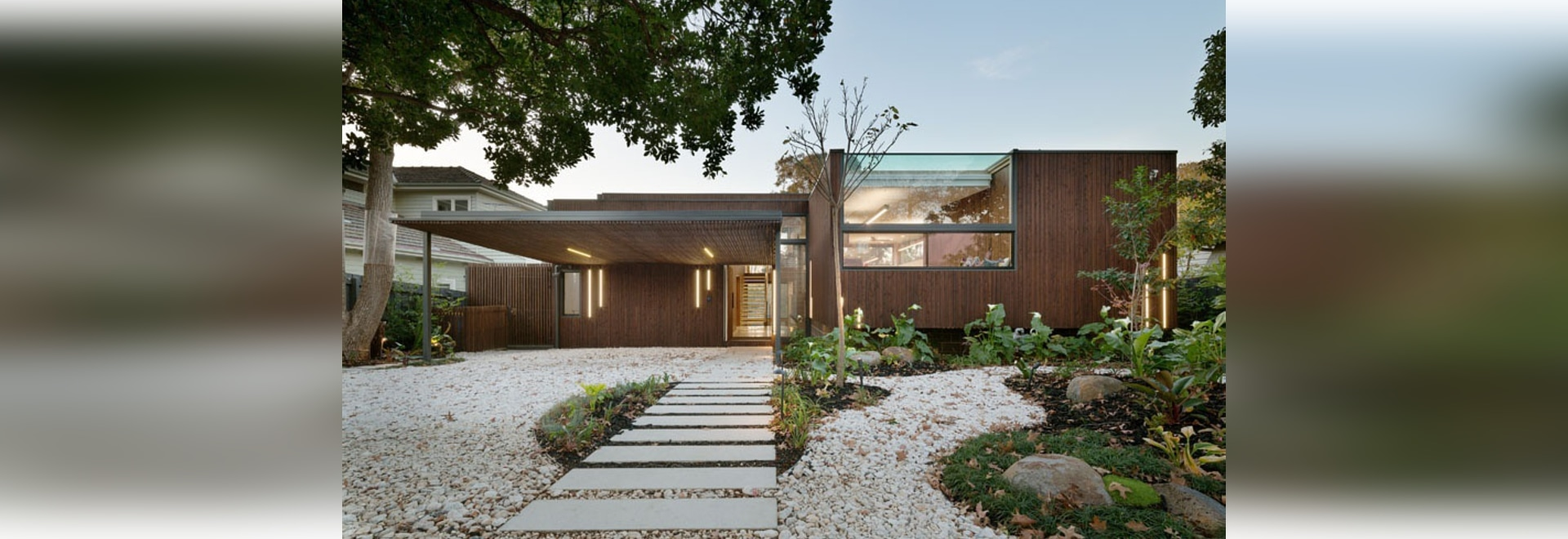 The Front Of This House Appears Modest And Compact, But It Conceals A Much Larger Interior