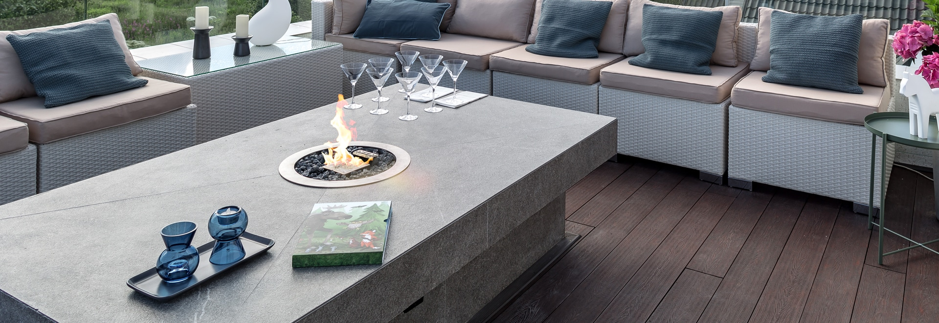 Galio Fire Pit Insert - Gas Outdoor fireplace by Planika