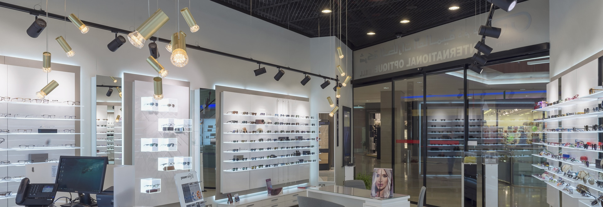 Gold Jewels at International Optique in Kuwait by Concept S