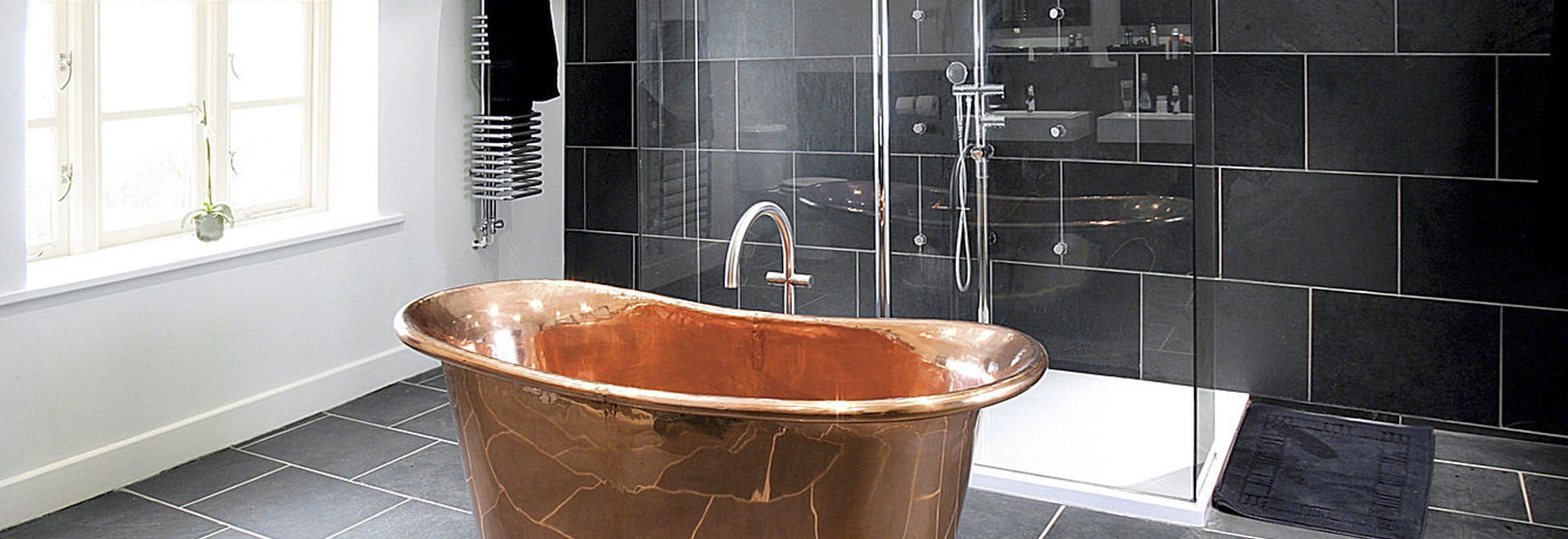 Gorgeous new copper tubs & washbasins collection at BLEU PROVENCE!