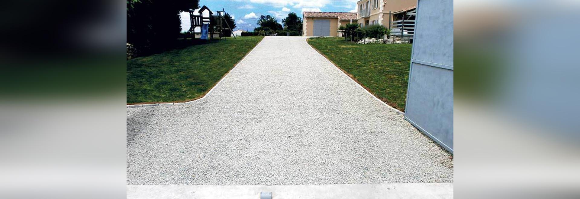 gravel path with nidagravel