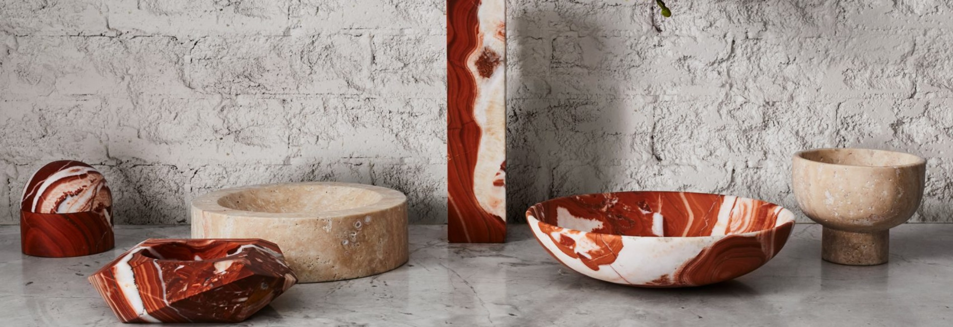 Greg Natale launches collection of marble, shell and brass decorative accessories