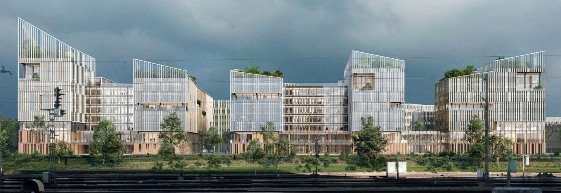 Henning Larsen's winning design for workspace inspired by rural French villages
