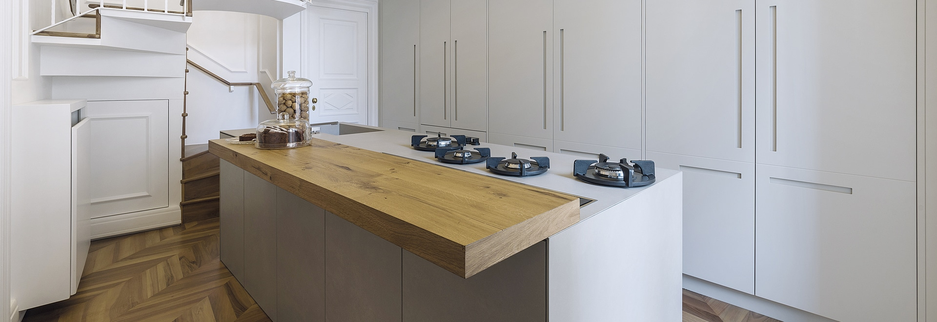 Kitchen project with island with Gres finish - Via del Fornaio ...