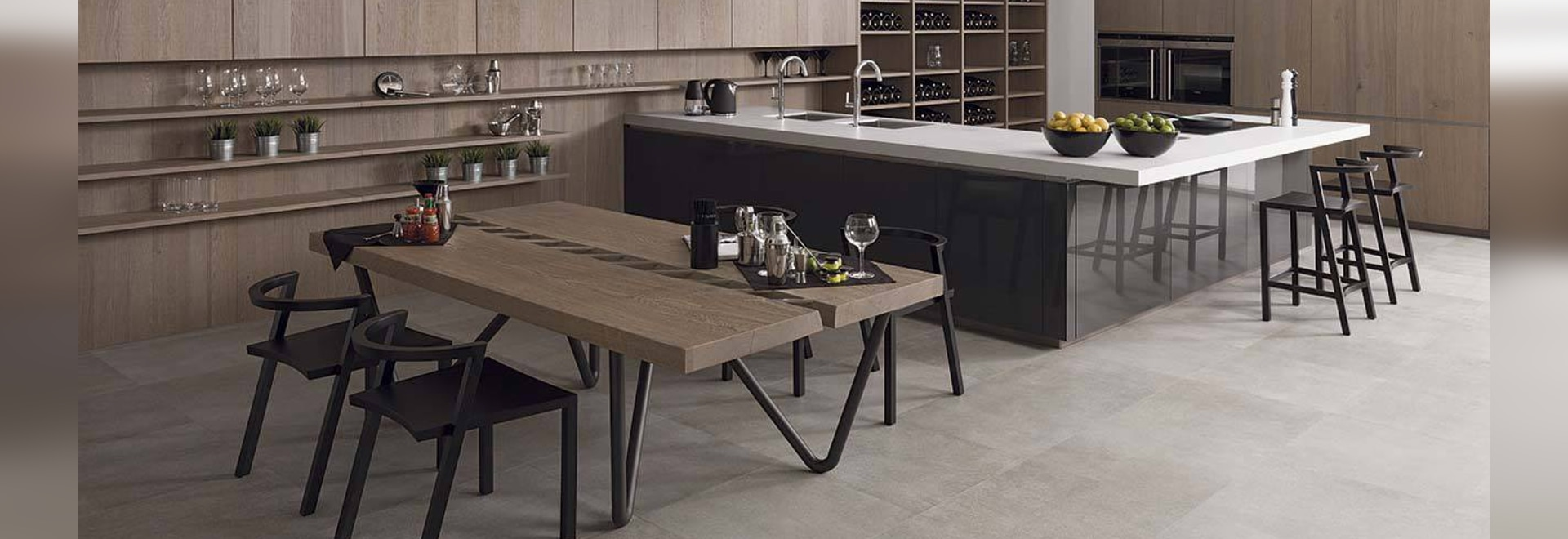 KRION in the Emotions collection from PORCELANOSA Kitchens – Gamadecor