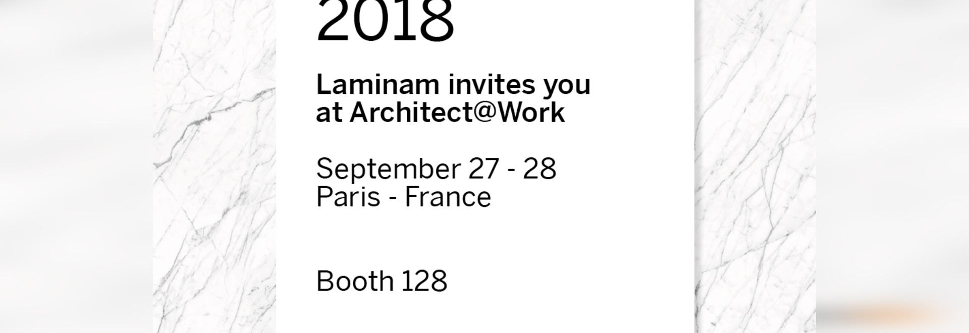 LAMINAM INNOVATION ON STAGE AT ARCHITECT@WORK PARIS