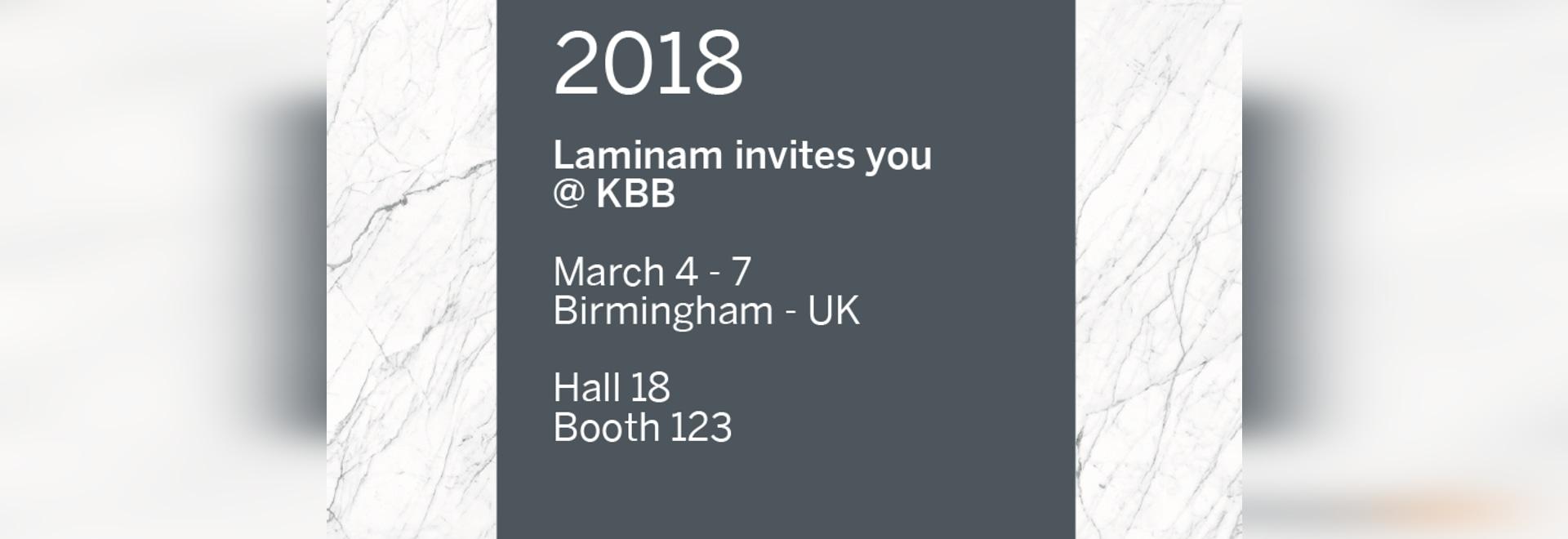 LARGE LAMINAM CERAMIC SURFACES FOR FURNISHINGS AT KBB BIRMINGHAM
