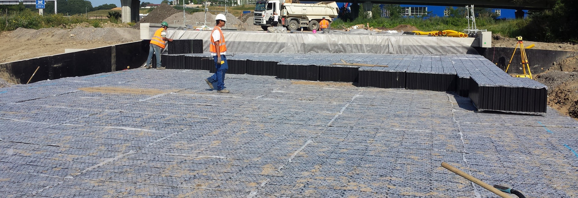 Lightweight honeycomb structures for road and building embankment