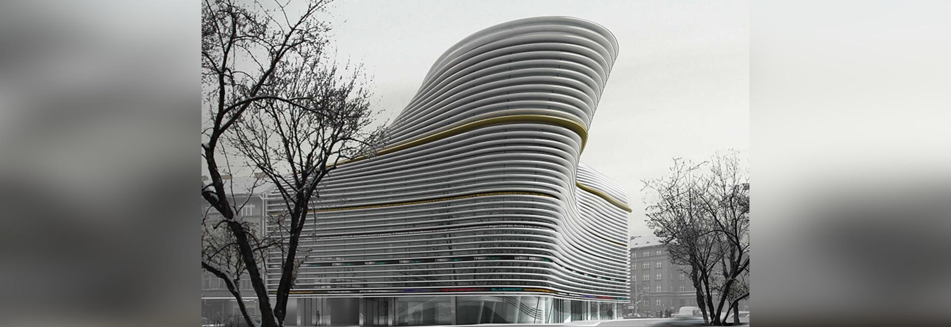the line multi-purpose building by randan hubicka architectural studio