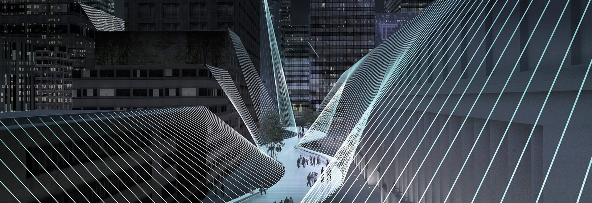 lissoni architettura proposes the 'high lines' bridge suspended from buildings in new york