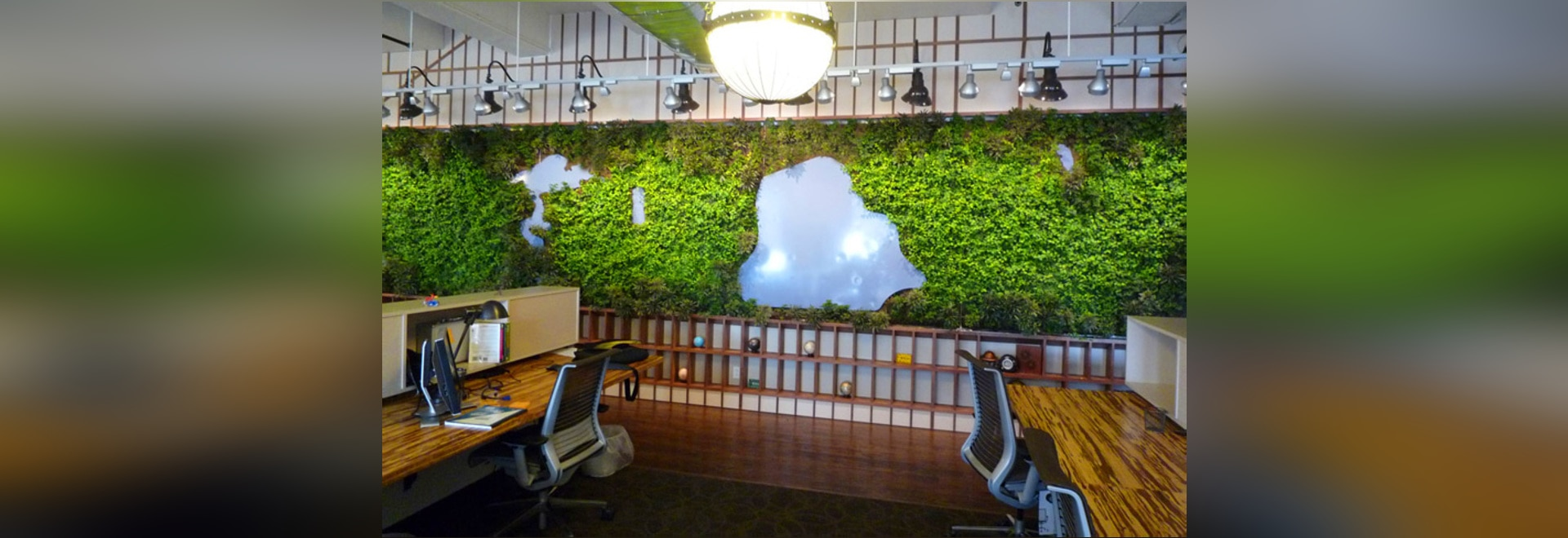 LTL Architects Create A Living Green Wall Shaped Like Central Park For A  NYC Office