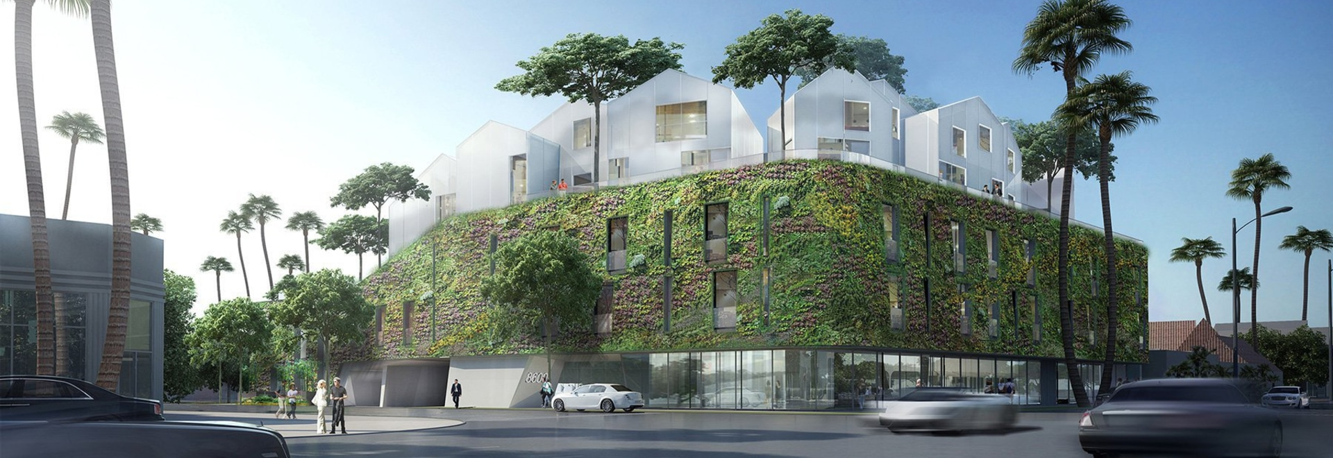 MAD architects' first US project, a hilltop residential village, tops out in beverly hills
