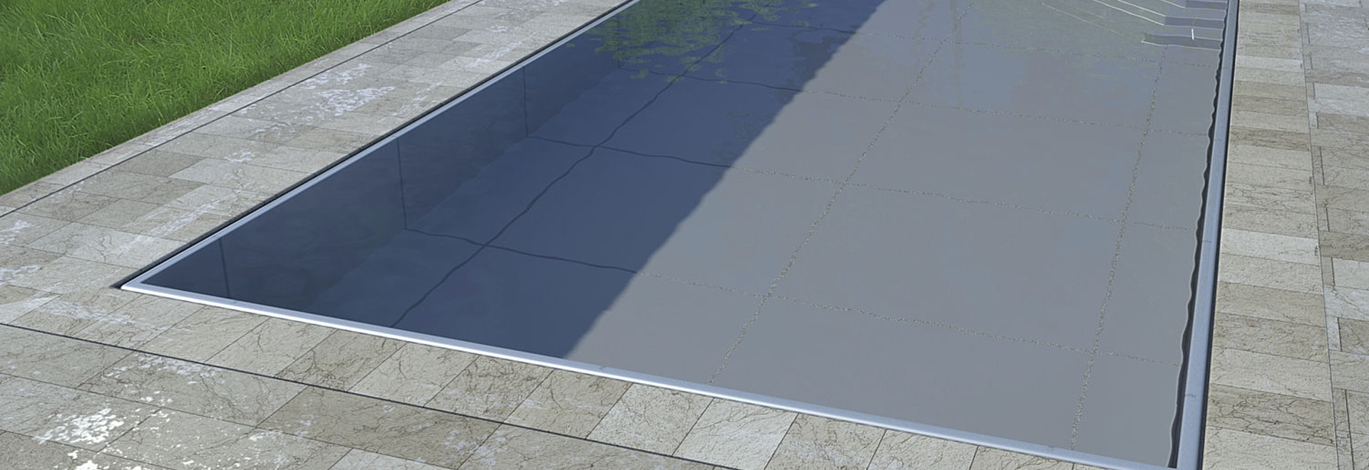 MARINE Inox - overflow panel pool from stainless steel - LUXE Pools