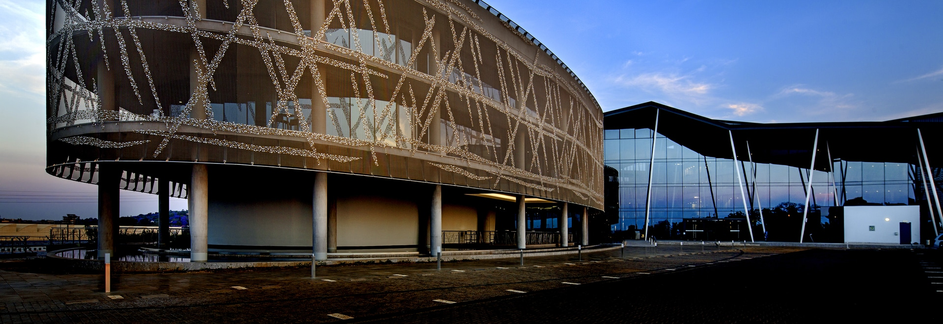 Metal mesh as an expressive shell for the national statistics authority in South Africa