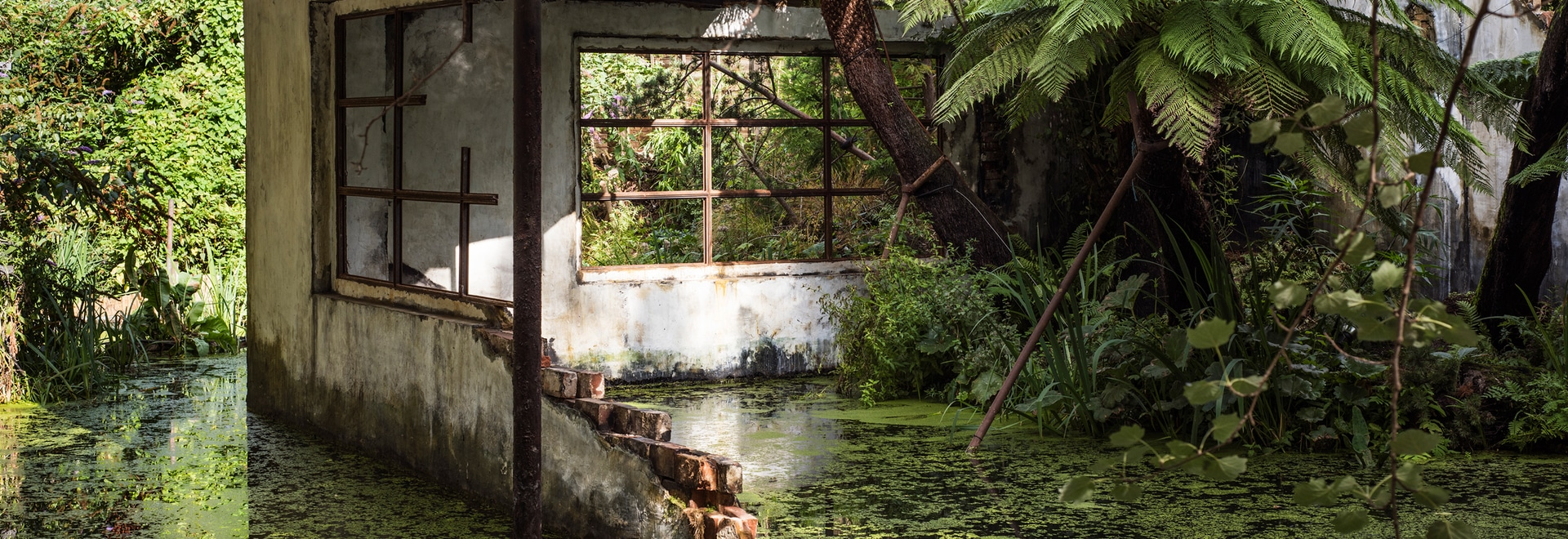 Modernist ruin in London canal provides a glimpse at an uncertain future