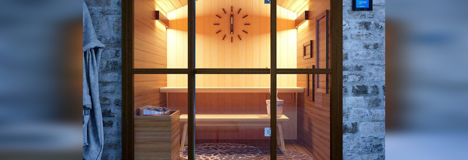 NEW: Finnish sauna by GLASS 1989