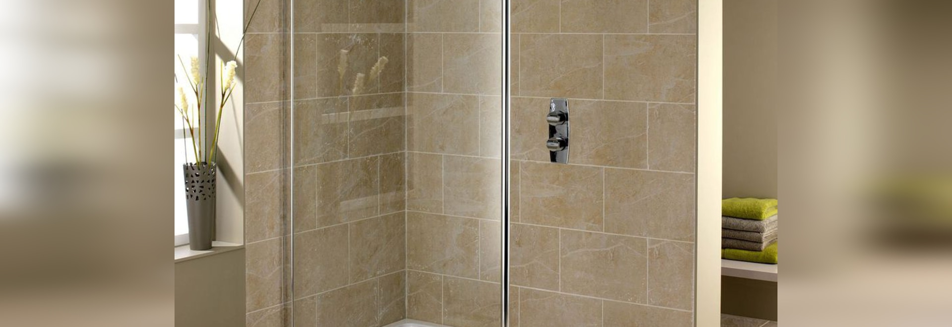 NEW: fixed shower screen by DUSCHOLUX AG - DUSCHOLUX AG