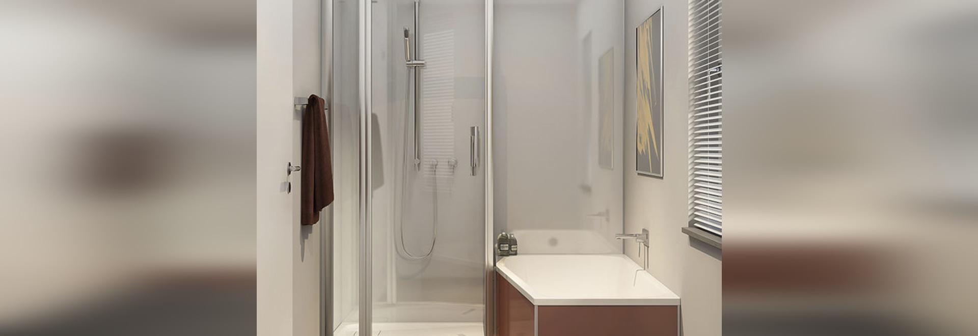 NEW: recessed bathtub-shower combination by DUSCHOLUX AG - DUSCHOLUX AG