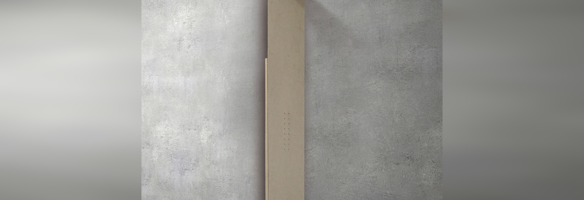 NEW SHOWERWAVE thermostatic shower column by GLASS 1989
