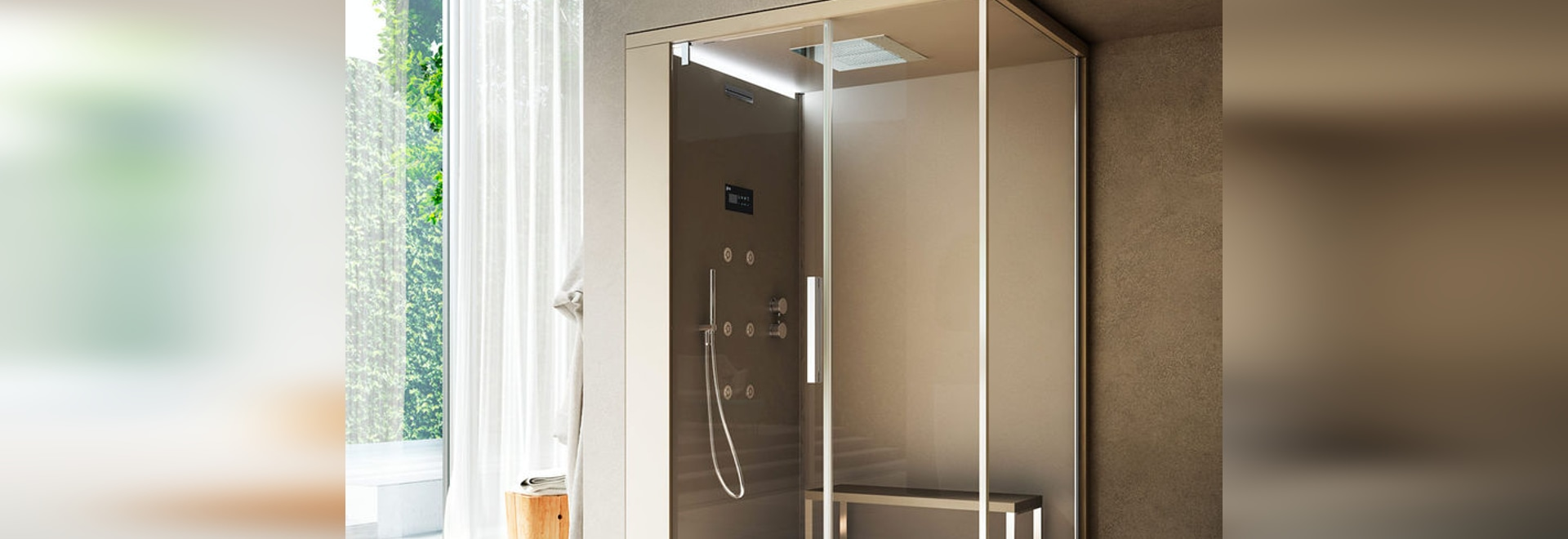 NEW: steam shower cubicle by GLASS 1989