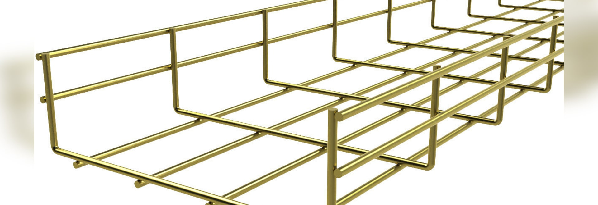 NEW: steel wire mesh cable tray by BASOR Electric, - BASOR Electric,