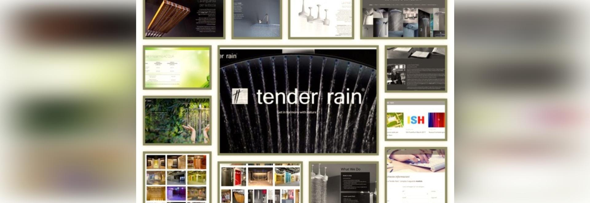 new website for tender rain showers