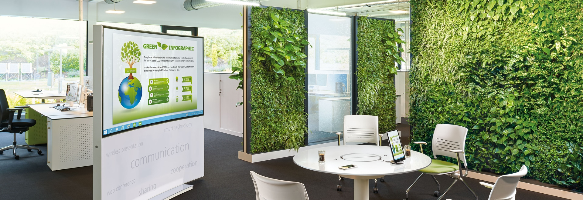 Office 4.0 – Transform the office of the future with water and green walls!